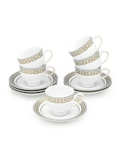 Indulgence 12 Pcs  Cup And Saucer - LAZZARO