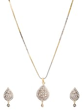 RZ Oddish American Diamond Jewellery Set - By