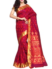 Red Gold Art Silk Saree - By
