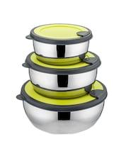 Lid Bowl Set Of - 3 Pcs With Colour Lid - MOSAIC
