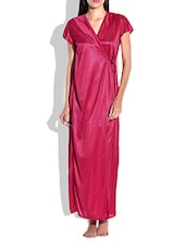 Red poly satin plain Nightwear -  online shopping for nightwear