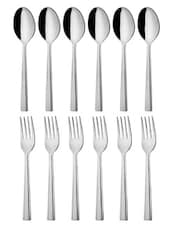 Linea Dessert Spoon And Dessert Fork 12 Pcs Set - MOSAIC