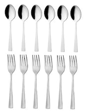 Pure Dessert Spoon And Dessert Fork 12 Pcs Set - MOSAIC