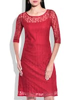 red crepe dress -  online shopping for Dresses