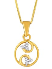 Yellow Gold And Diamond Pendant - Asmi