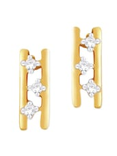 Yellow Gold And Diamond Earrings - Asmi