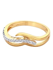 Yellow Gold And Diamond Ring - Asmi