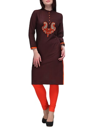 coffee cotton kurta