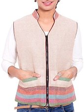 Pink Jute Winter Coat - By - 9842329