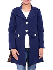 Blue Wool Winter Coat - By