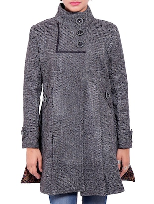 Grey Jute Winter Coat