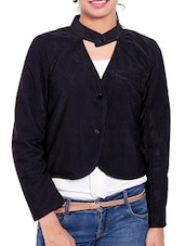Black Corduroy Winter Coat - By
