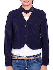 Blue Corduroy Winter Coat - By