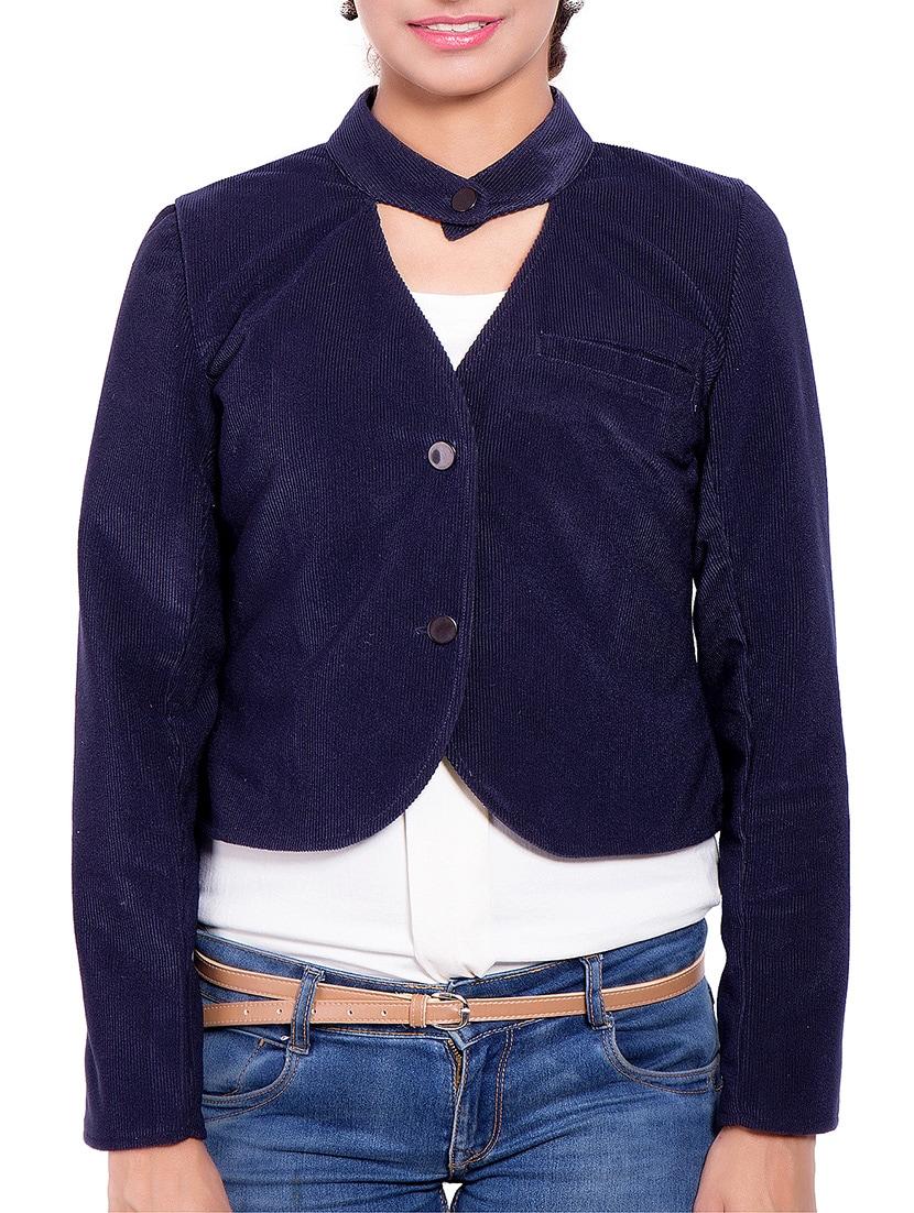 Blue Corduroy Winter Coat - By