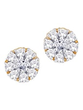 Diamond Encrusted Gold Earrings - Nakshatra