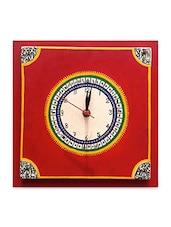 Warli Handpainted Clock 12*12 Inch - ExclusiveLane