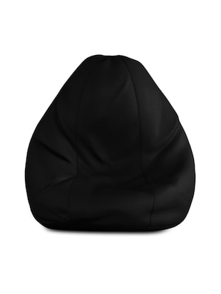 black leatherette bean bag