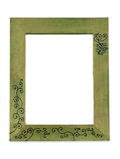 Wooden Carving Mirror With Bird Design - ExclusiveLane