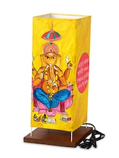 Canvas Handpainted Ganesha Lamp 15 Inch - ExclusiveLane