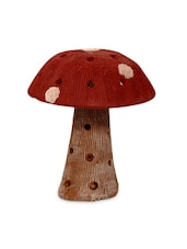Mushroom Terracotta Handpainted In Red - ExclusiveLane