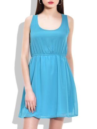turquoise PolyGeorgette dress