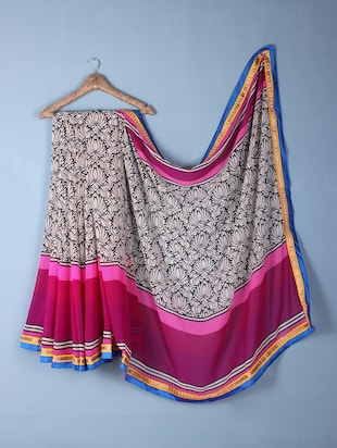 Multicolour Georgette floral Print Saree