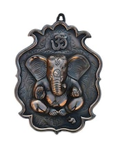 Metal Wall Hanging Of Lord Ganesha With Om - ECraftIndia