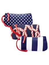 Rope Print And Nautical Patterned Cotton Canvas Wristlet Set - Be... For Bag