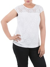 White Lace Top With Viscose Back - LastInch