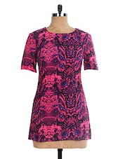 Multicolored Floral Poly Cotton Short  Dress - The Style Aisle