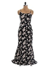 Black Camisole Neck Floral Maxi Dress - The Style Aisle
