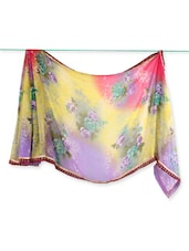 Floral Print Georgette Saree - Saraswati - 986015