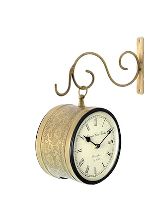 RoyalsCart Double Sided Railway Station/Platform Analog Wall Clock ( Height 10 )