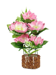 Pink Flower Potted Artificial Plant