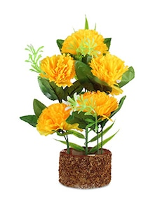 Yellow Flowers Potted Artificial Plant