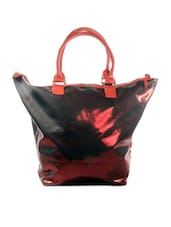 Metallic Burgundy And Red Tote - HARP