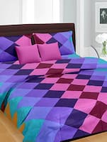Multicolor Cotton printed double bedsheet set -  online shopping for bed sheet sets