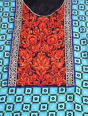 Funky Print Aqua Blue Semi-Stitched Suit - ADAH