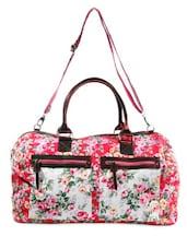 Red Floral Print Duffle Bag - HARP