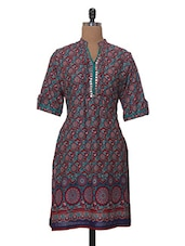 Three-quarter Sleeved Casual Printed Kurta - Tissu