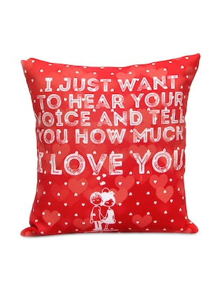 Elegant Red Printed Cushion Gift for Valentine GIFTS110147