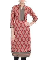 maroon Cotton kurta -  online shopping for kurtas