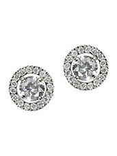 Circular Crystals Alloy Stud Earring - Bg's