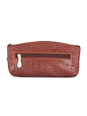 Brown Leatherette Wallet And Cardholder - By