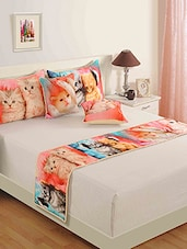 Multicolored Pure Cotton  Pillows And Cushion Cover Set - By - 9881062
