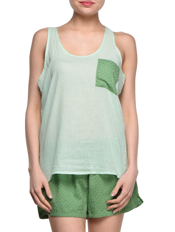 Plain Cotton Top With Shorts - Feyona