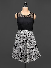 Tiger Print Black Lace Dress - Rose Vanessa