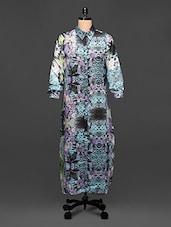 Jungle Print Grey Shirt Dress - Rose Vanessa