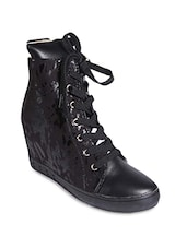 Black Leather Boot - By