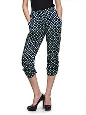 Blue Printed Three Forth Pants - Oranje